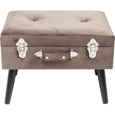 Escabel Suitcase gris