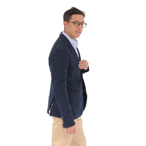 Blazer Color Siete para Hombre - Azul