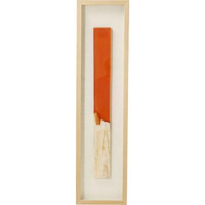 Cuadro Match naranja 120x30cm