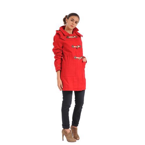 Chaqueta Color Siete Para Mujer - Rojo