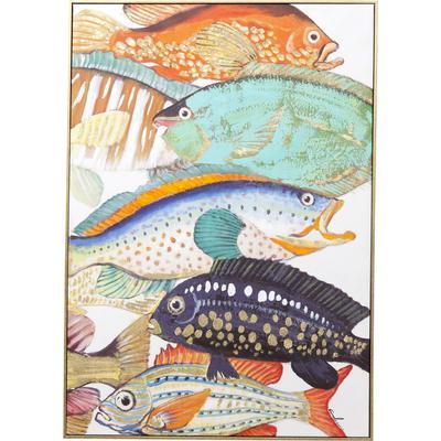 Cuadro  Fish Meeting Two 100x75cm
