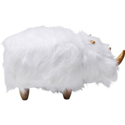 Taburete Rhino Fur blanco
