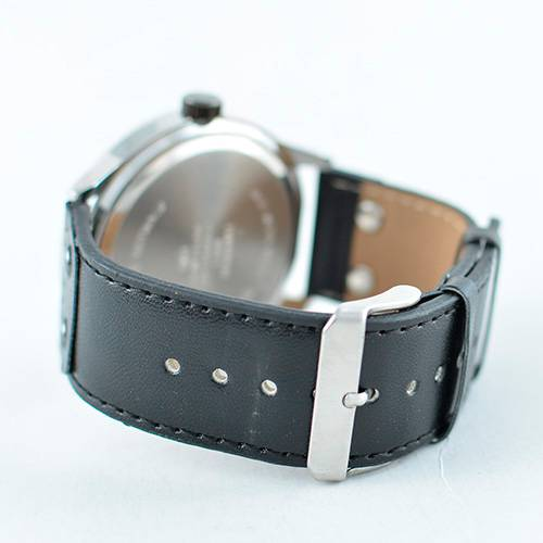 Reloj análogo plateado-negro U119