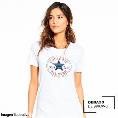 CONVERSE ROPA POR DEBAJO DE 99.990