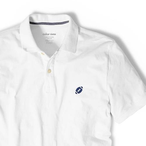 Polo Color Siete Para Hombre Blanco - Futbol Americano