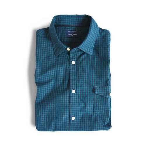 Camisa Manga Larga Reade Color Siete para Hombre - Verde