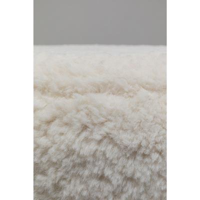 Taburete Cherry Teddy blanco latón  Ø35cm