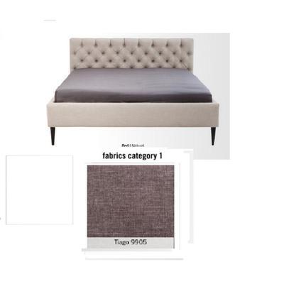 Cama Nova, tela 1 - Tiago  9905,  (85x220x215cms), 180x200cm (no incluye colchón)