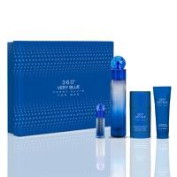 Perry Ellis Pure Blue Edt Spray 100Ml+ Shower Gel 90Ml+ Deo Stck 78G + Mini Edt 7.5Ml
