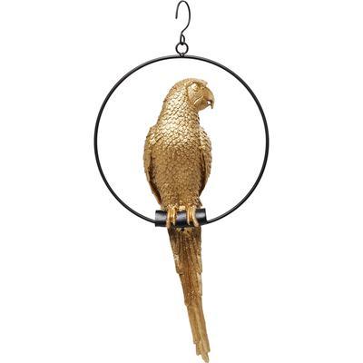 Objeto decorativo Swinging Parrot oro