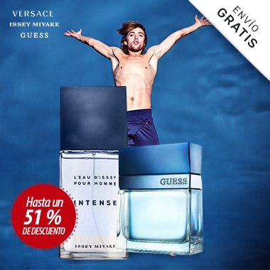 VERSACE - ISSEY MIYAKE y GUESS perfumes Hombre