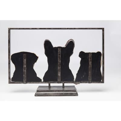 Objeto decorativo Dogs with Frame 63cm