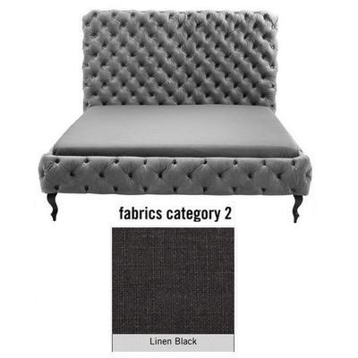 Cama (Alta) Desire, tela 2 - Linen Black, (135x197x228cms), 180x200cm (no incluye colchón)
