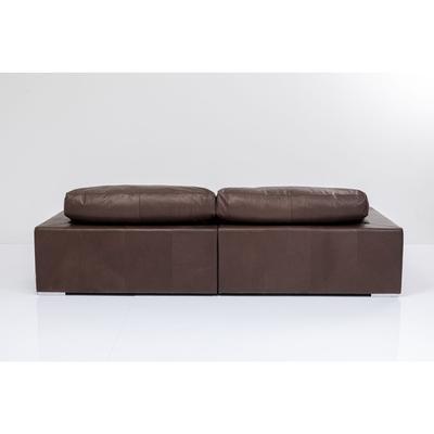 Sofá Grandezza 3 pl Piel marrón oscuro
