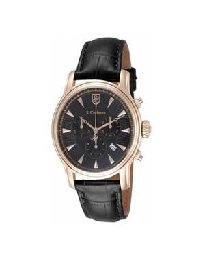 Reloj análogo negro-negro 0225