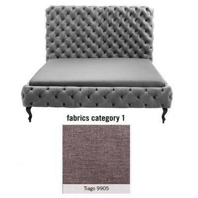 Cama (Alta) Desire, tela 1 - Tiago  9905, (138x177x228cms), 160x200cm (no incluye colchón)