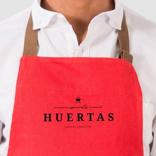 Delantal Color Siete Huertas - Rojo