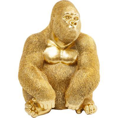 Figura decorativa Monkey Gorilla Side mediano oro