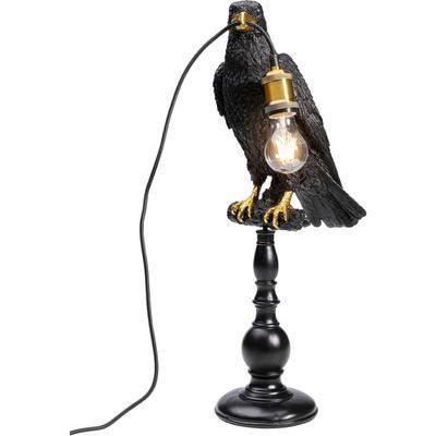 Lámpara mesa Sitting Crow mate negro