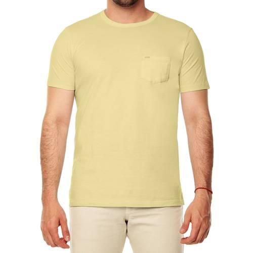 Camiseta Color Siete Para Hombre  - Amarillo