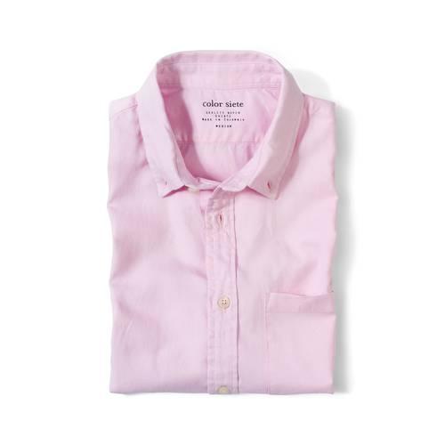 Camisa Manga Corta Wooster Color Siete Para Hombre  - Rosado