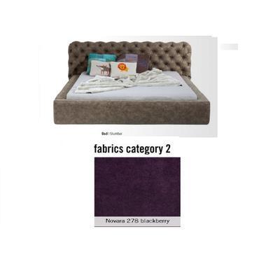Cama Slumber, tela 2 - Novara 278 blackberry,  (82x228x239cms), 180x200cm (no incluye colchón)