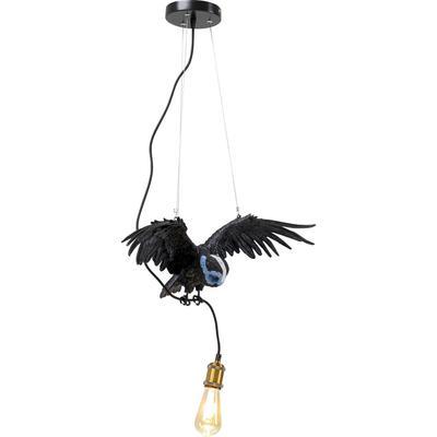 Lámpara Animal Blue Mask Owl negro 57cm