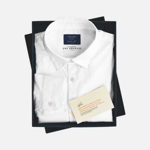 Camisa Color Siete para Hombre Polo Wash - Blanco