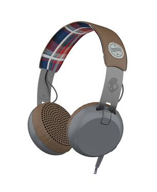 Audífonos Grind Americana/Plaid/Gray Ttech Gris Estampado Ht-470 Gris Estampado - Skullcandy