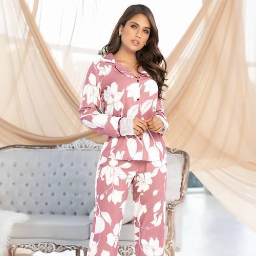 Pijama Pantalón Largo Rosado 7848