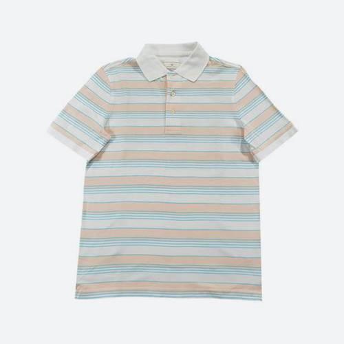 Camiseta Polo Nal Rayas Pique Rosado 500-47 - Arturo Calle