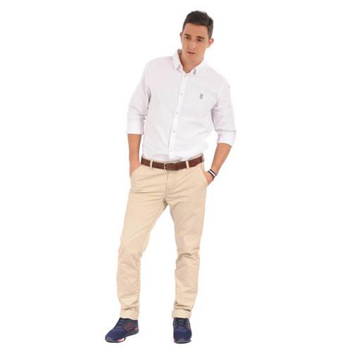 Camisa Manga Larga Miller Jack Supplies Para Hombre - Blanco