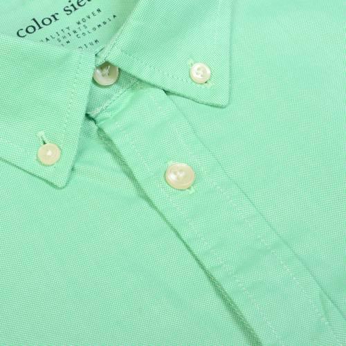 Camisa Oxford Manga Larga - Verde