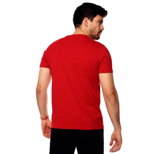 Camiseta Color Siete Para Hombre  - Rojo