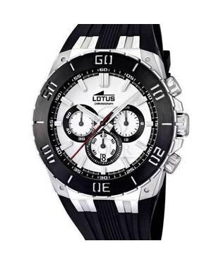Reloj goma negra-blanco 01-1