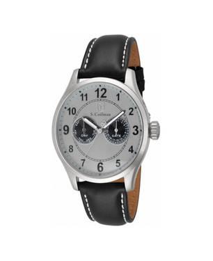 Reloj análogo blanco-negro 0315