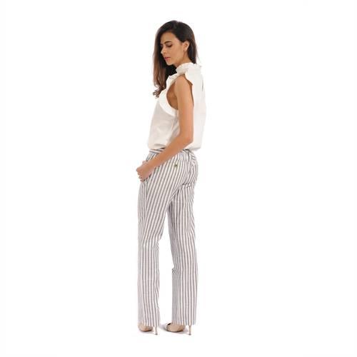 Pantalon Color Siete para Mujer-Gris