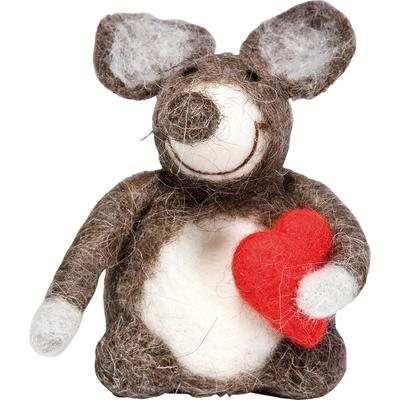 Deco Figurine Mouse Heart Small