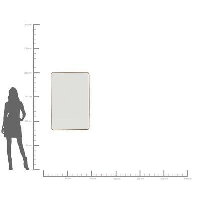 Espejo Curve Rectangular latón 120x80cm
