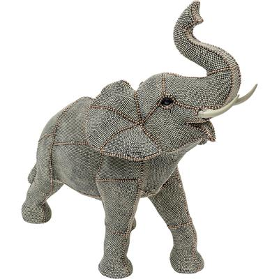 Objeto decorativo Walking Elephant Pearls