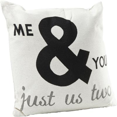 Cojines Just Us Two blanco 45x45cm