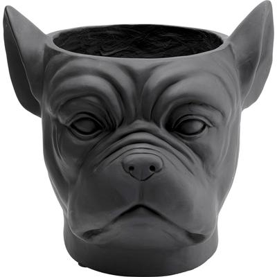 Macetero decorativo Bulldog negro