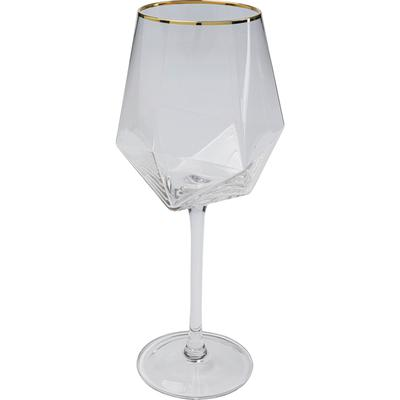 Vaso vino Diamond oro Rim