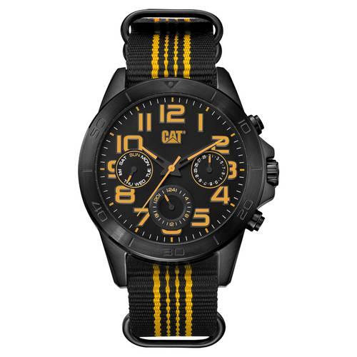 Reloj multifunción negro-negro-amarilla -117