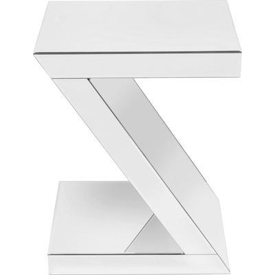 Mesa auxiliar Luxury Z blanco 45x33cm