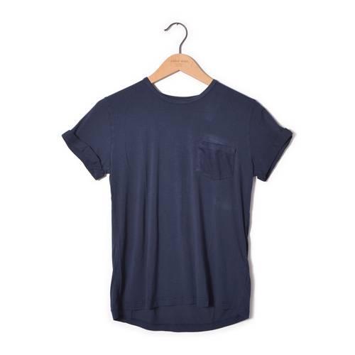 Camiseta Básica Color Siete Para Mujer - Azul