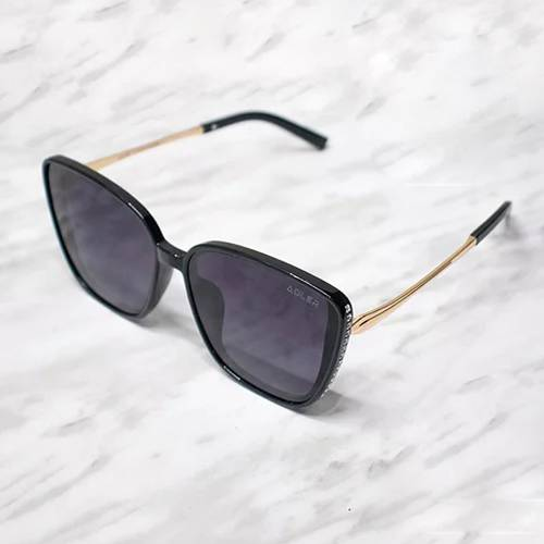 Gafas de sol polarizada con filtro UV 400 Negro - Dorado Negro