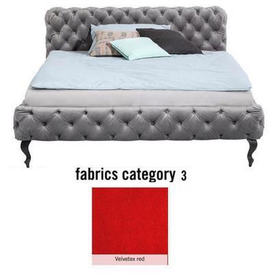 Cama Desire, tela 3 - Velvetex Red, (100x217x228cms), 200x200cm (no incluye colchón)