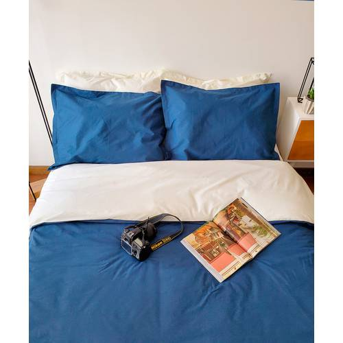 Set Duvet Doble Faz Azul y Beige