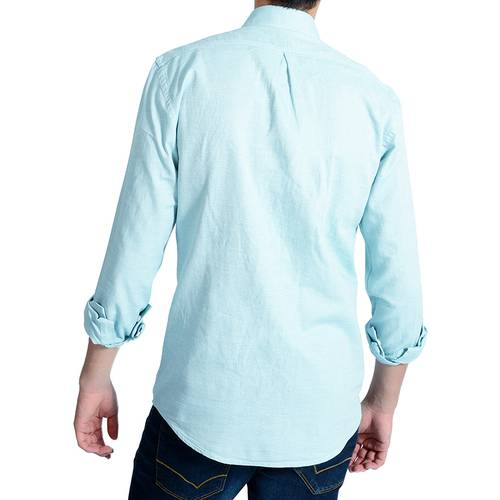 Camisa Manga Larga Murray Color Siete para Hombre - Verde
